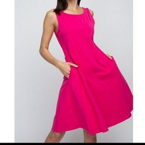 Dresses & Skirts - Fuschia Fit N Flare Dress!